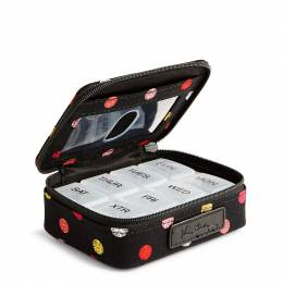 Vera Bradley Travel Pill Case in Havana Dots