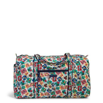 Large Duffel Travel Bag in Stamps
