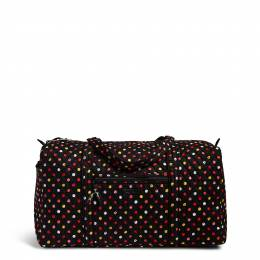 Vera Bradley Large Duffel Travel Bag in Havana Dots