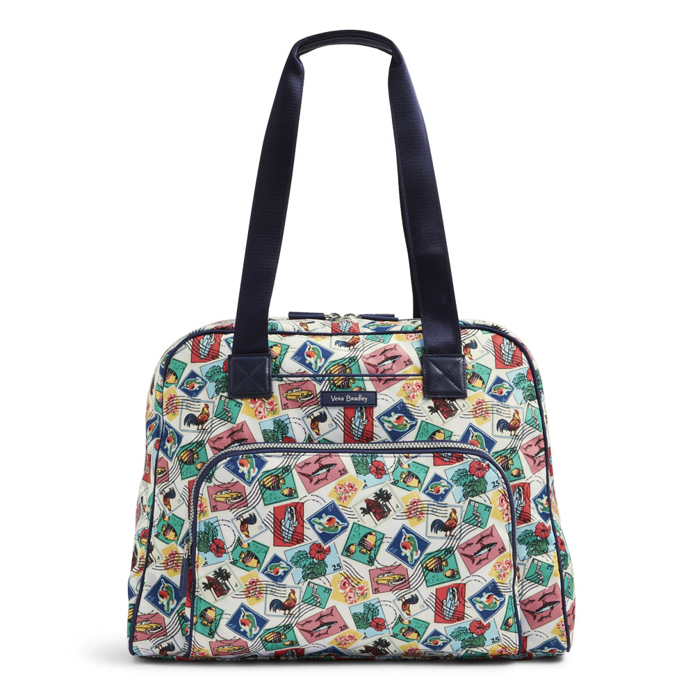 Vera Bradley Lighten Up Go Anywhere Carry-On in Stamps