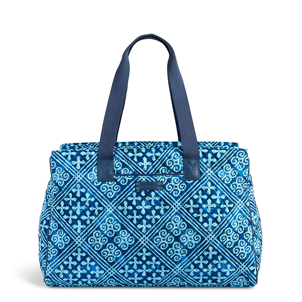 Vera Bradley Triple Compartment Travel Bag in Cuban Tile