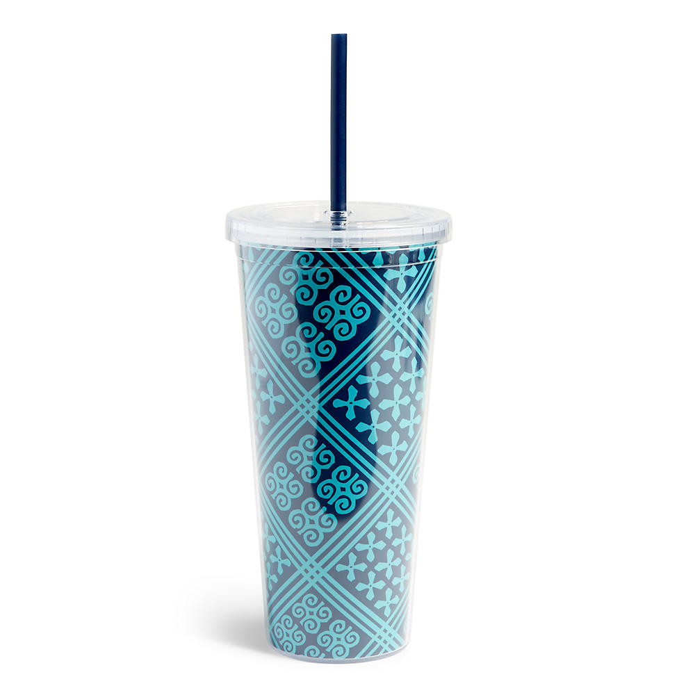 Vera Bradley Travel Tumbler in Cuban Tile