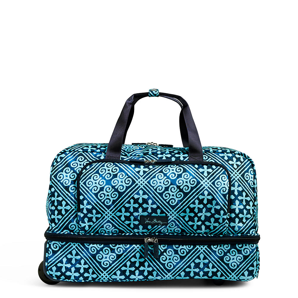Vera Bradley Lighten Up Wheeled Carry On Luggage in Cuban Tile