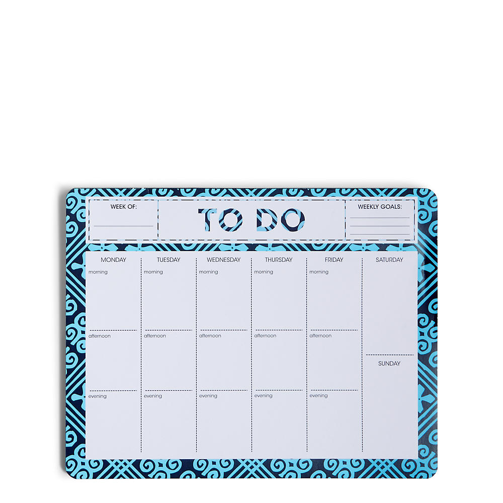 Vera Bradley Desktop Weekly Planner in Cuban Tile