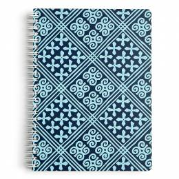 Vera Bradley Mini Notebook with Pocket in Cuban Tiles