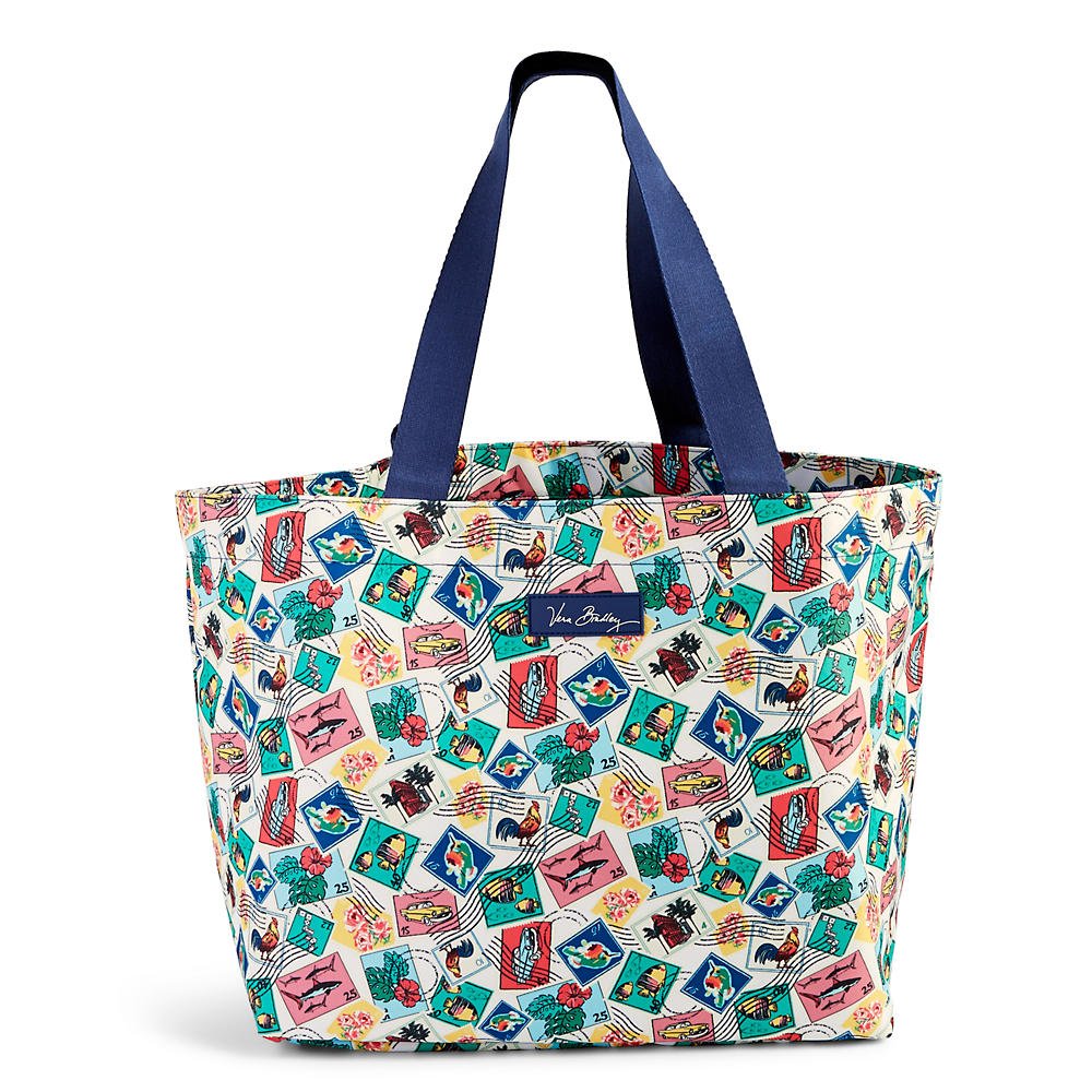Vera Bradley Drawstring Family Tote in Cuban Stamps
