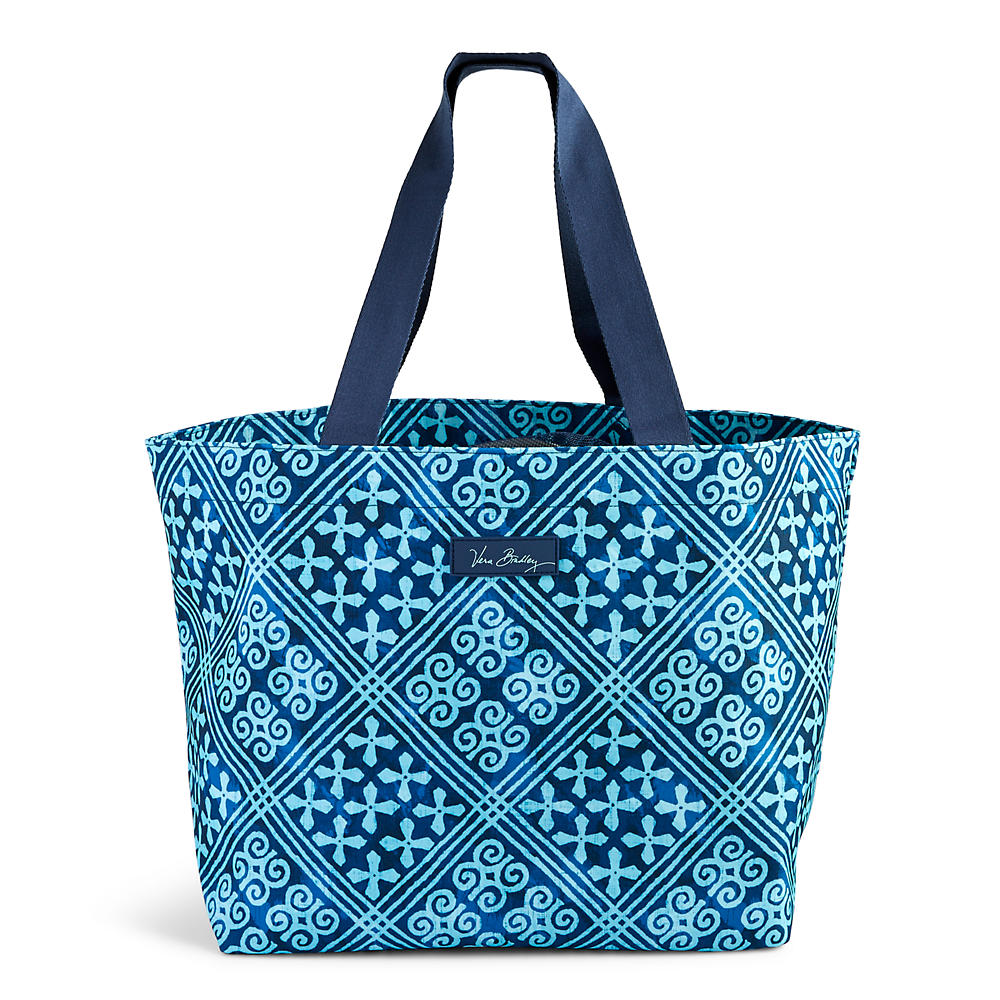 Vera Bradley Drawstring Family Tote in Cuban Tiles