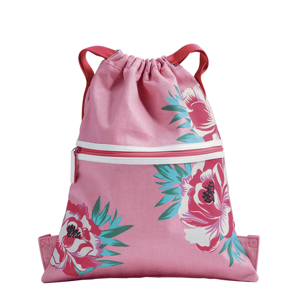 Vera Bradley Beach Backsack in Oxford Floral