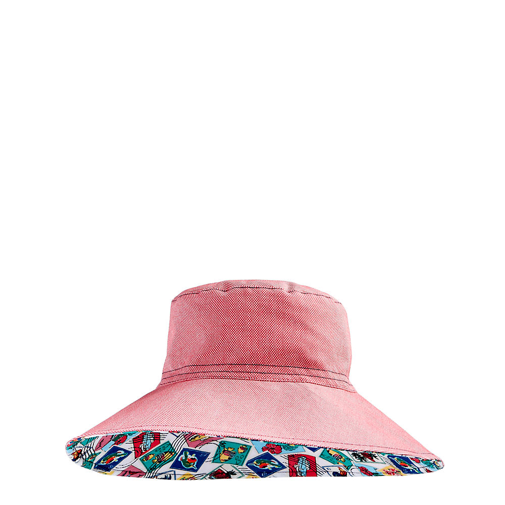 Vera Bradley Beach Hat in Red Oxford