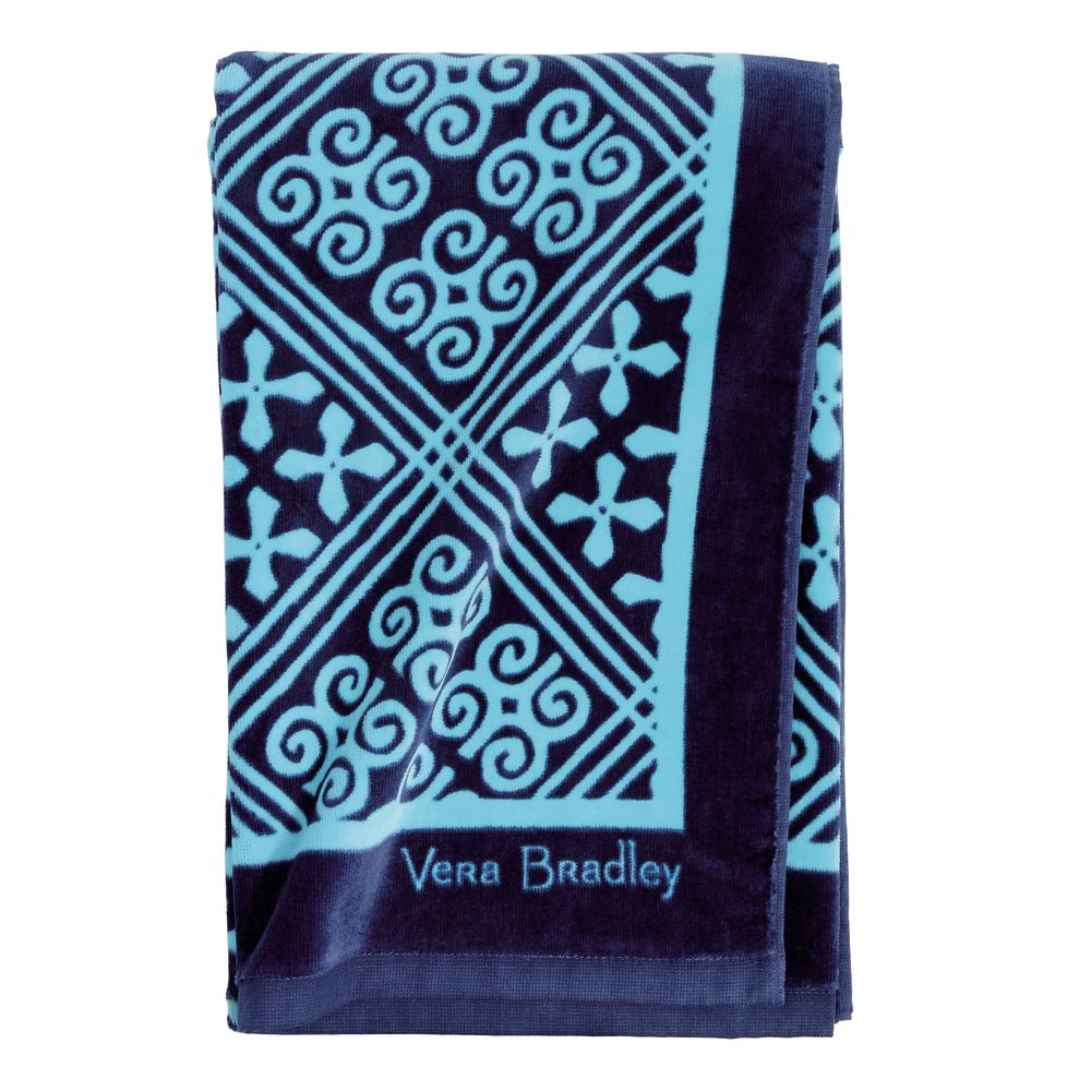 Vera Bradley Beach Towel in Cuban Tile