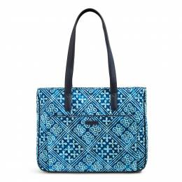Vera Bradley Commuter Tote in Cuban Tiles with Navy