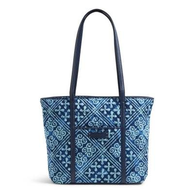 Small Trimmed Vera Tote in Cuban Tiles