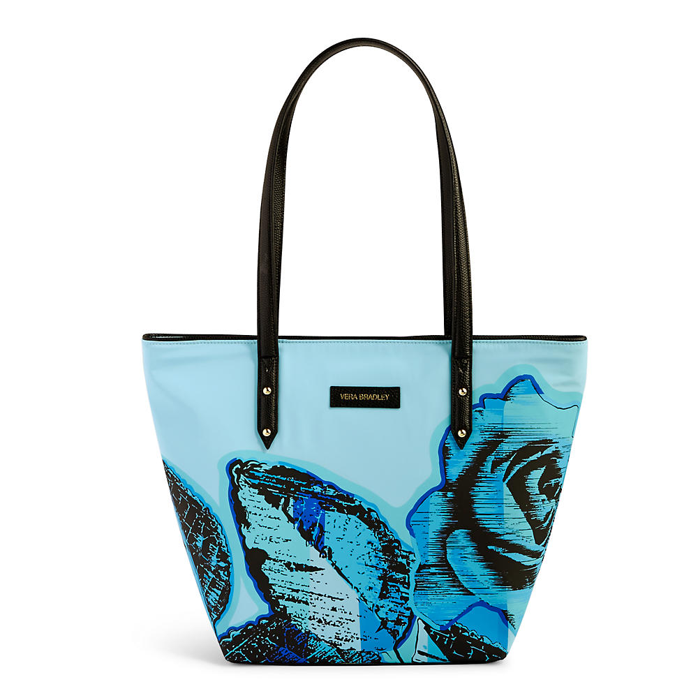 Vera Bradley Small Ella Tote in Blue Havana Rose
