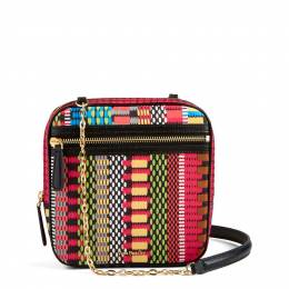 Vera Bradley Elena Crossbody Bag in Cha-Cha with Black