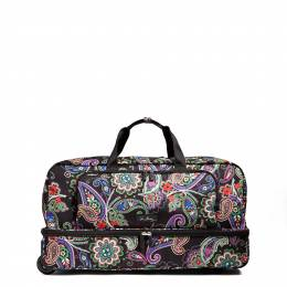 Vera Bradley Lighten Up Large Wheeled Duffel Bag in Kiev Paisley