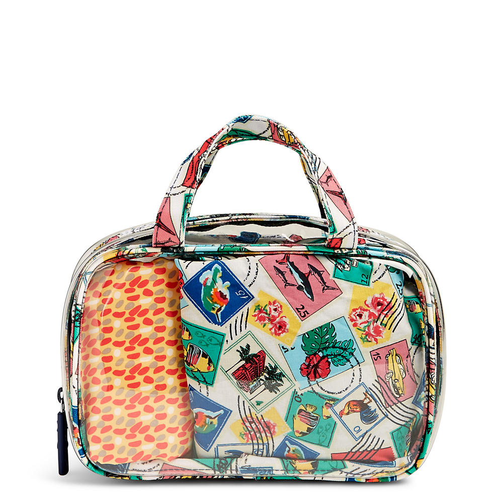 Vera Bradley Mini Ditty Travel Set in Cuban Stamps