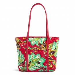 Vera Bradley Small Trimmed Vera Tote in Rumba with Red