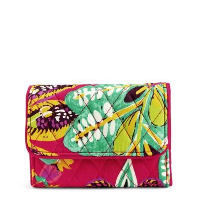 RFID Riley Compact Wallet in Rumba