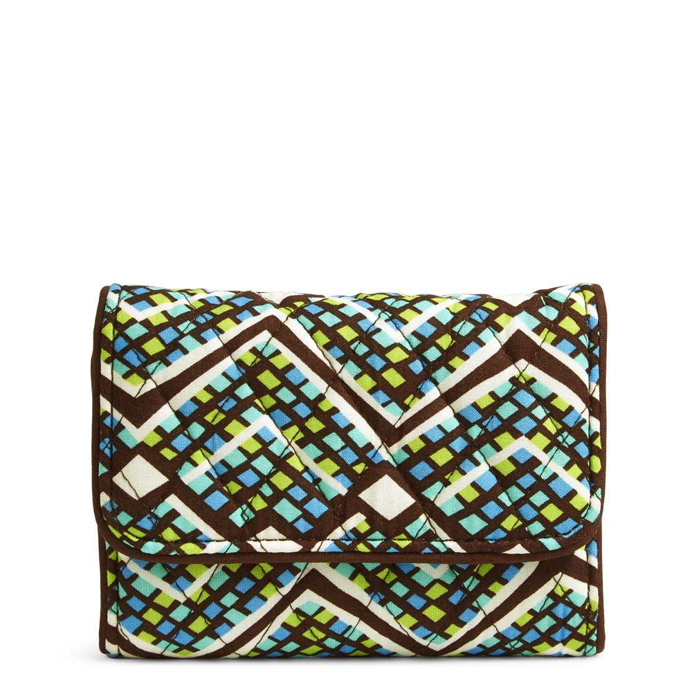 Vera Bradley RFID Riley Compact Wallet in Rain Forest