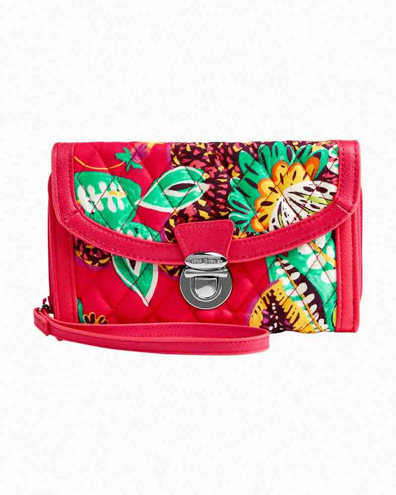 Vera Bradley Ultimate Wristlet in Rumba with Red