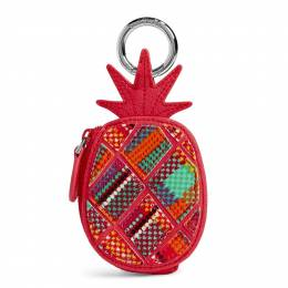 Vera Bradley Pineapple Bag Charm in Rumba Grid