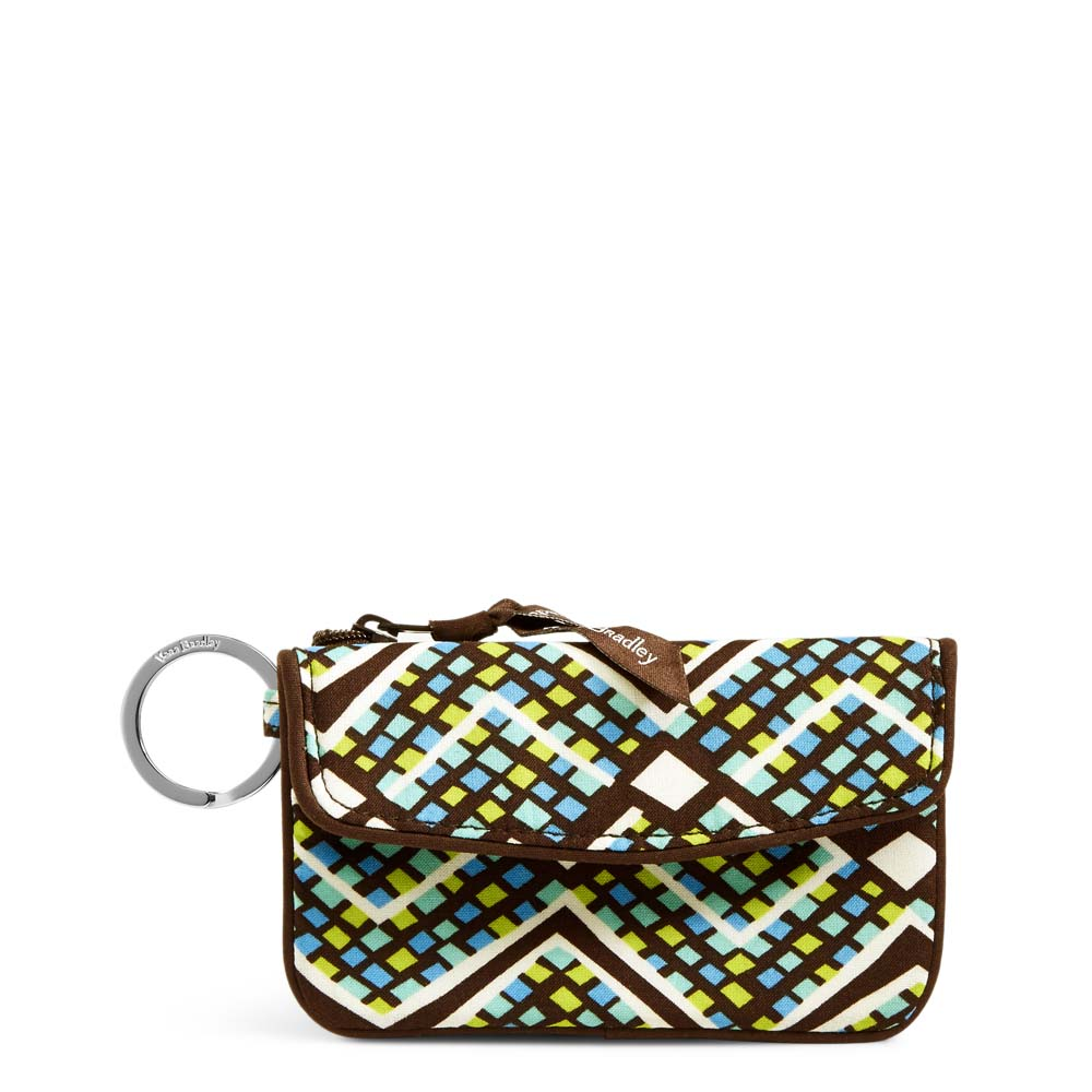 Vera Bradley Jen Zip ID Case in Rain Forest