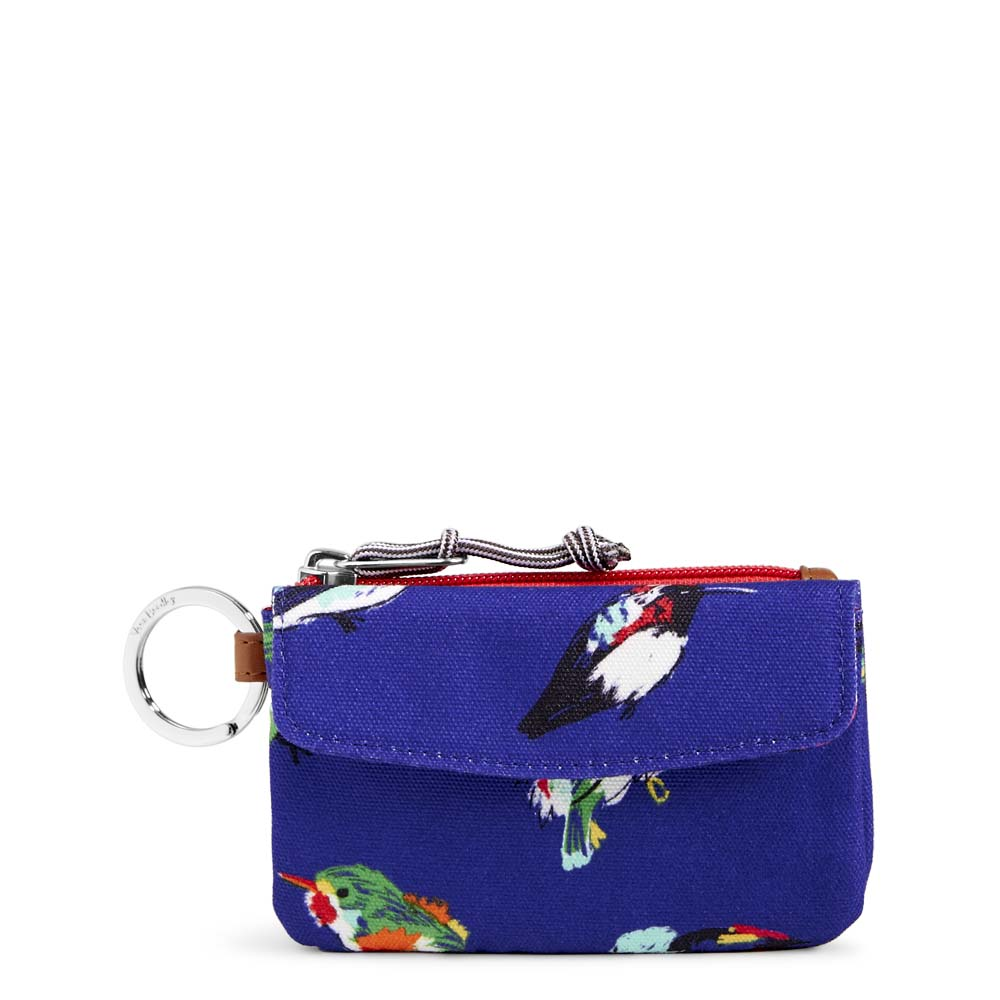 Vera Bradley Jen Zip ID in Mini Tody Birds Blue