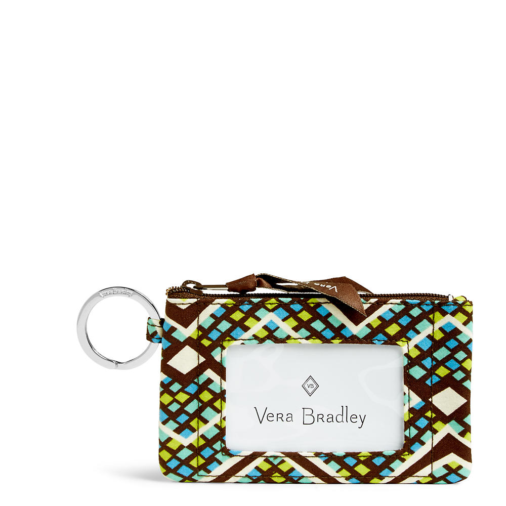 Vera Bradley Zip ID Case in Rain Forest