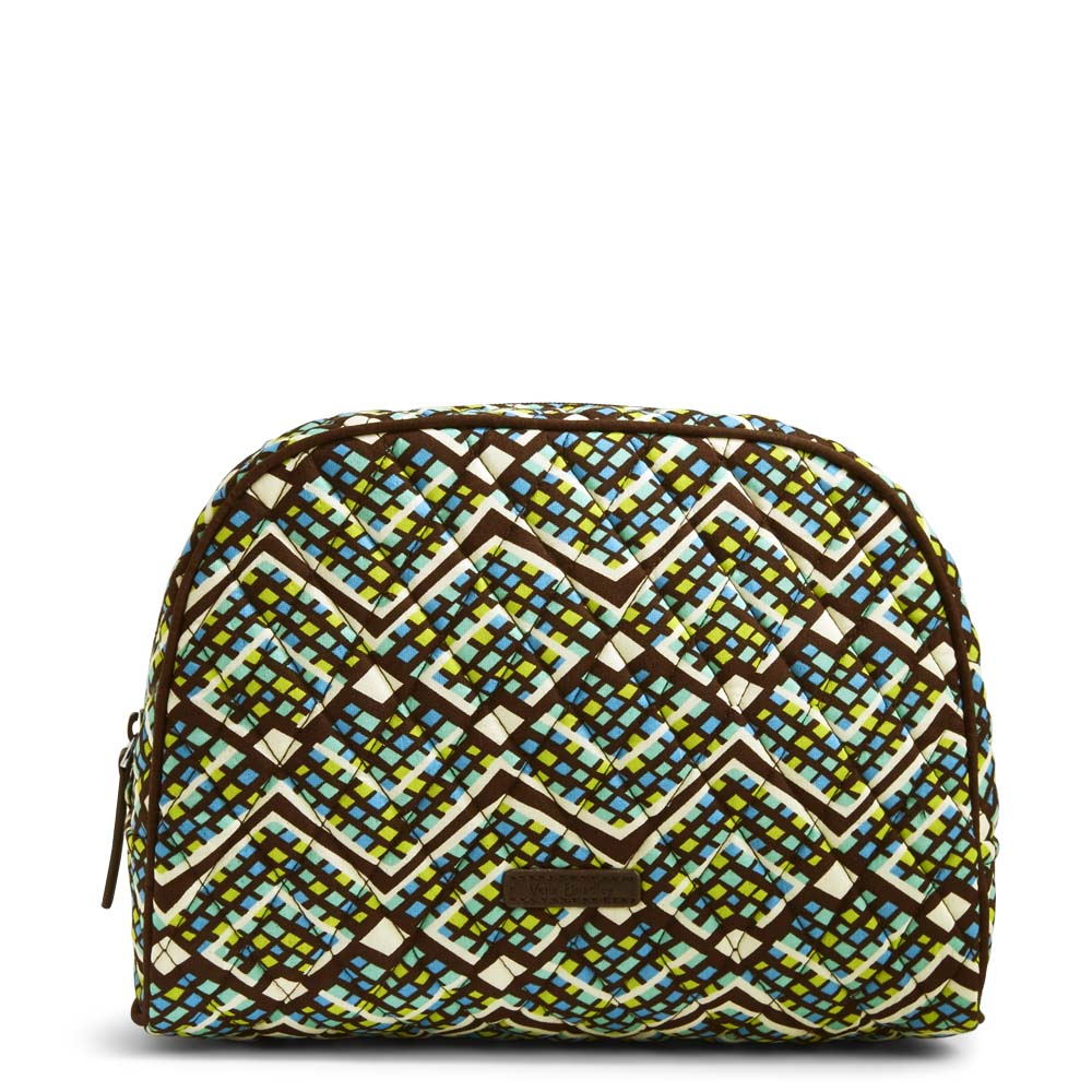 Vera Bradley Large Zip Cosmetic in Rain Forest