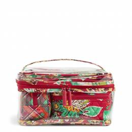 Vera Bradley Travel Cosmetic Set in Rumba