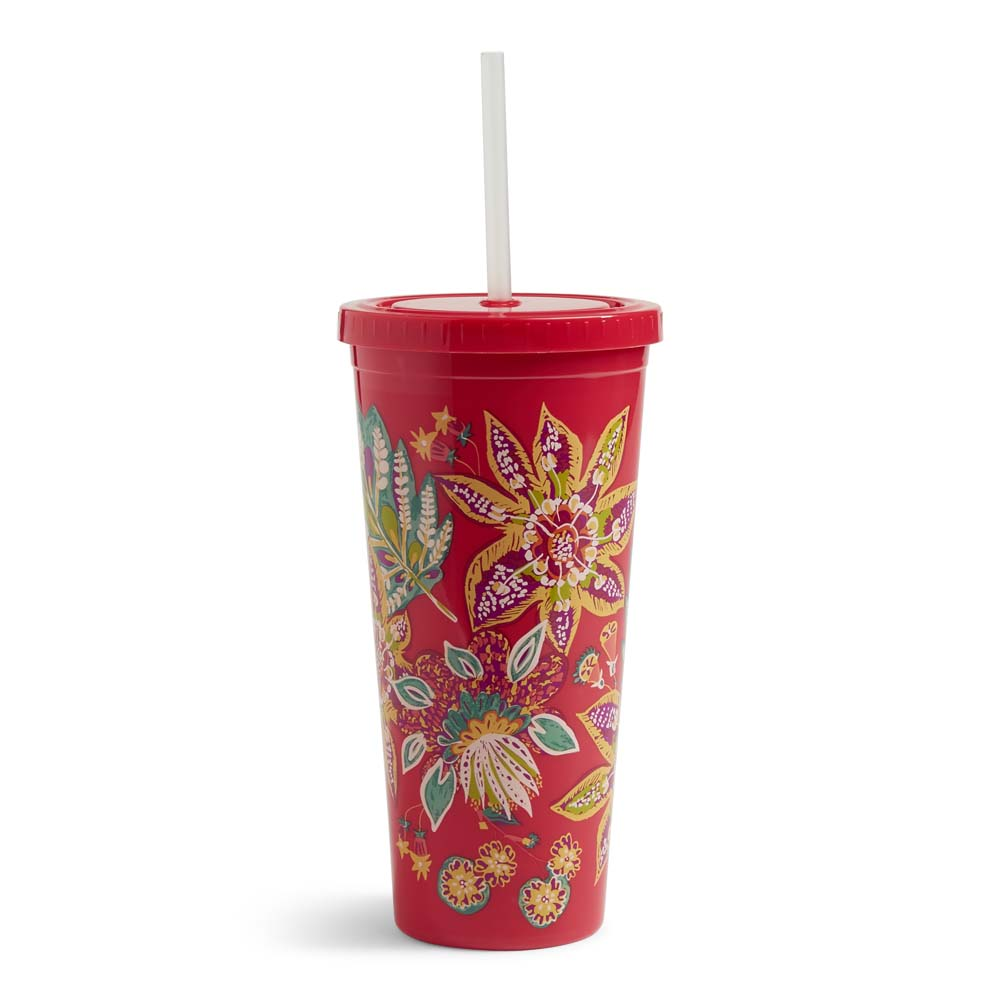 Vera Bradley Travel Tumbler in Rumba