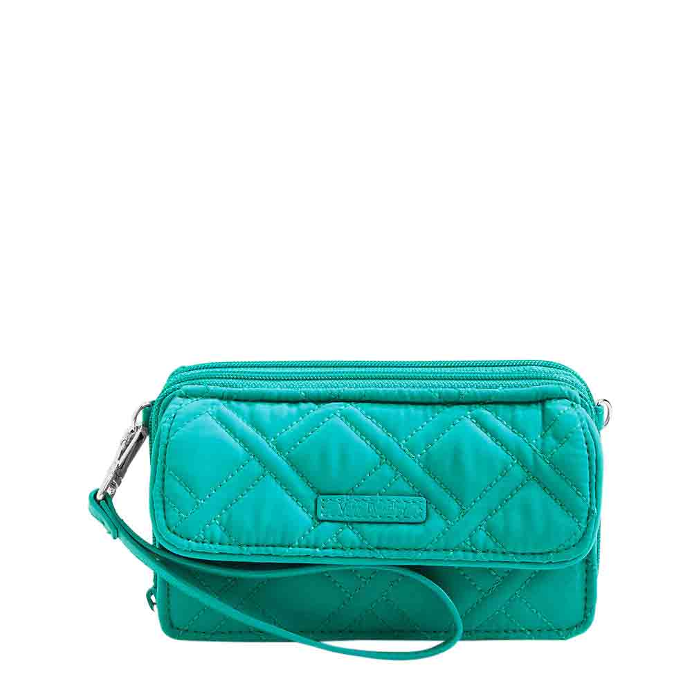 Vera Bradley RFID All in One Crossbody in Turquoise Sea