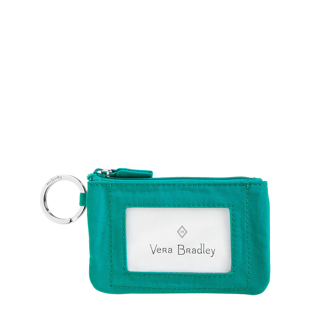Vera Bradley Zip ID Case in Turquoise Sea