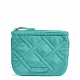 Vera Bradley Coin Purse in Turquoise Sea