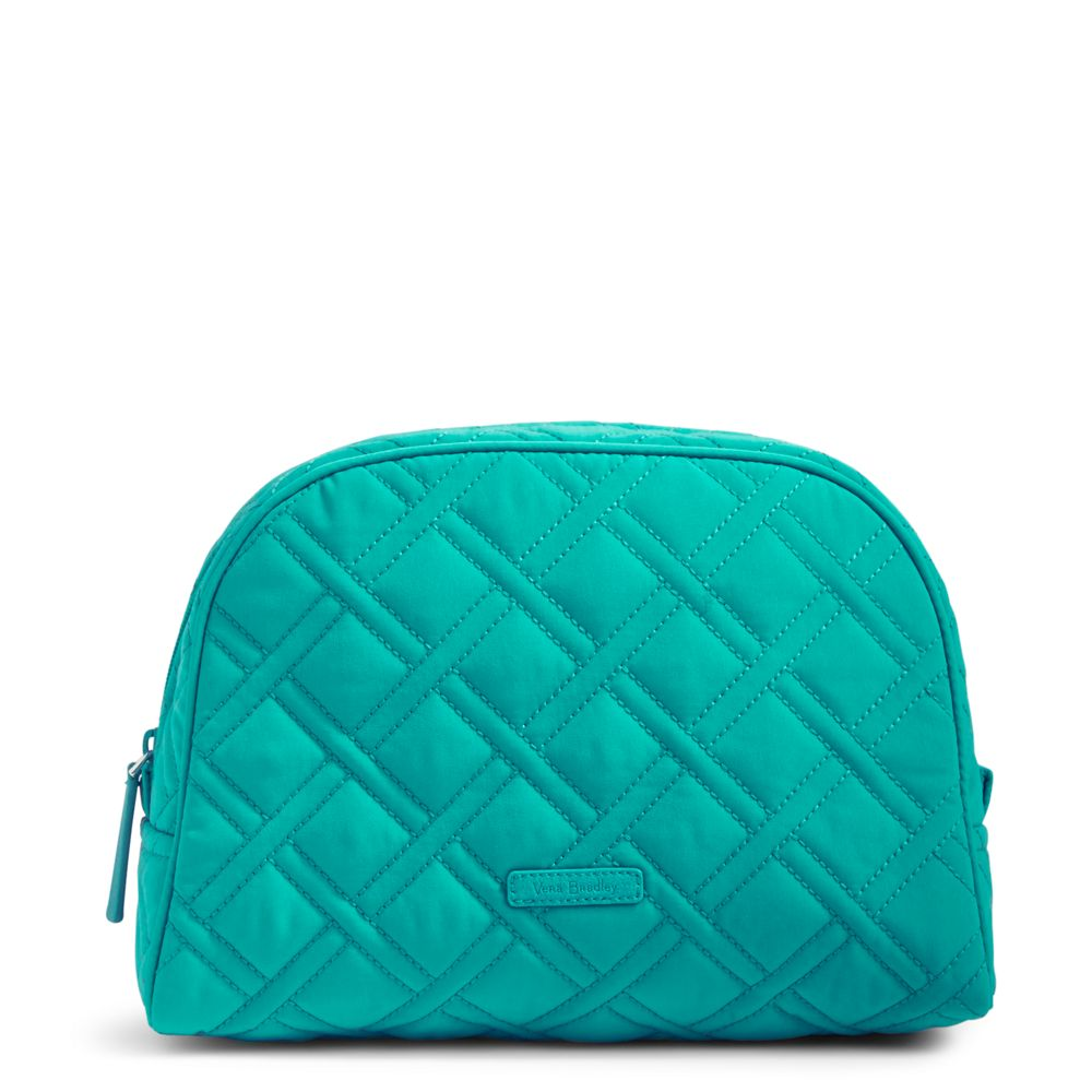 Vera Bradley Large Zip Cosmetic Case in Turquoise Sea