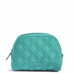 Vera Bradley Medium Zip Cosmetic Case in Turquoise Sea