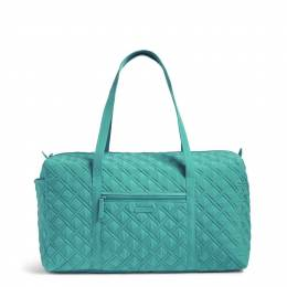 Vera Bradley Large Duffel Travel Bag in Turquoise Sea