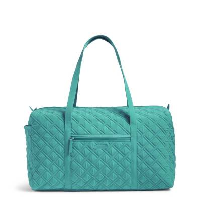 Large Duffel Travel Bag in Turquoise Sea