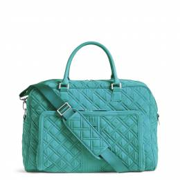 Vera Bradley Weekender Travel Bag in Turquoise Sea