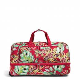 Vera Bradley Lighten Up Large Wheeled Duffel Bag in Rumba