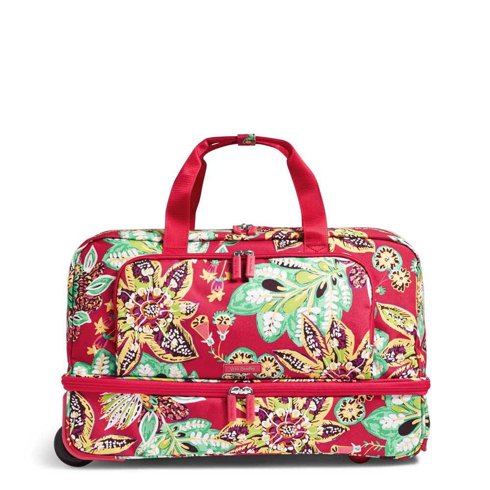 Vera Bradley Lighten Up Wheeled Carry On Luggage in Rumba