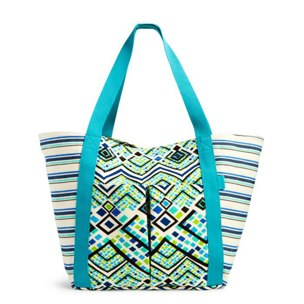 Vera Bradley Canvas Beach Tote in Rain Forest