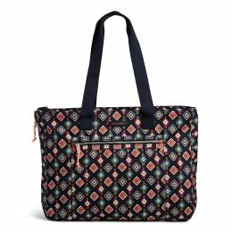 Vera Bradley Lighten Up Expandable Tote in Mini Medallions