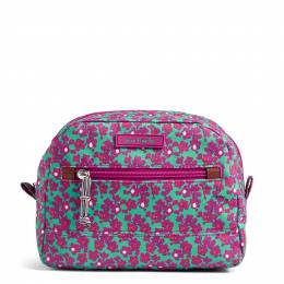 Vera Bradley Medium Cosmetic in Ditsy Dot
