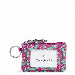 Vera Bradley Lighten Up Zip ID Case in Ditsy Dot