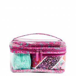 Vera Bradley Travel Cosmetic Set in Modern Medley