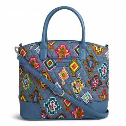 Vera Bradley Day Off Satchel in Painted Medallions