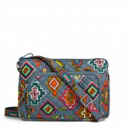 Vera Bradley Iconic RFID Little Hipster in Painted Medallions