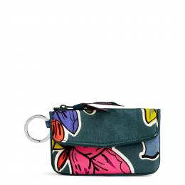 Vera Bradley Jen Zip ID Case in Falling Flowers
