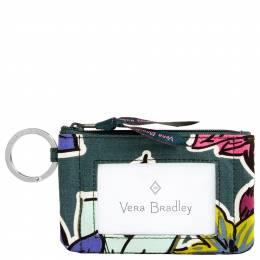 Vera Bradley Zip ID Case in Falling Flowers